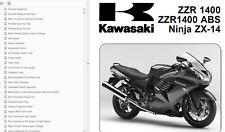 Kawasaki Ninja ZX 14 ZZR 1400 ABS Workshop Manual CD verkleidung auspuff felge