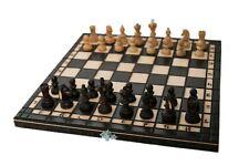 Schach edles Schachspiel aus Holz Schachbrett Handarbeit k1  35 x 35cm
