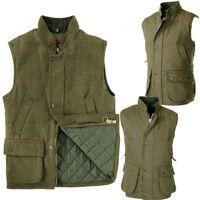 Mens Raiken Hunting Tweed Gilet Fishing Derby Quilted Shooting Vest Jacket