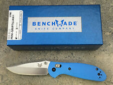 Benchmade 556-BLU Mini Griptilian Knife Blue Handle Plain Edge Satin Blade EDC