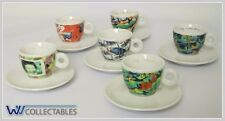 ILLY COLLECTION ART 1996  VIDEOGRAMMI BY N. J. PAIK ESPRESSO CUPS 6X