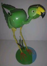 """Green Bird METAL ART 9"""" Bird Sculpture Statue"""