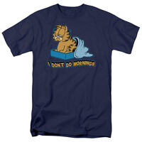 Garfield Comic I Don't Do Mornings Heavy Eyes Licensed Tee Shirt Adult S-3XL
