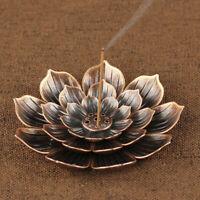 Alloy Incense Burner Stick Holder Plate Buddhism Coil Lotus Censer Bronze/Copper