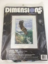 Vintage Dimensions Needlepoint Soaring Spirit Eagle #2435 By Al Agnew 1995