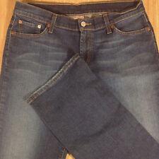 LUCKY BRAND Jeans CLASSIC STRAIGHT LEG 32xReg Darker Distressed  *NWOT* 112617