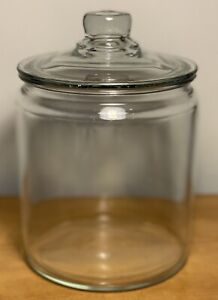 Anchor Hocking Heritage Hill 2 Qt. Clear Glass Storage/Canister Jar w/ Lid ~ NEW