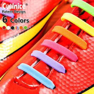 SILIKON SCHNÜRSENKEL Elastische Schuhbänder Schuhgummis für Fußball-Laufschuhe