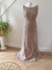 BNWT DEBUT Bronze Eclipse Embellished long Evening Dress size 14-RRP£199