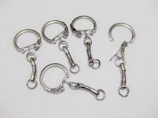 5pz base per portachiavi  kit colore argento scuro 50x22mm bijoux