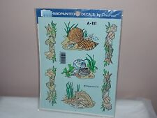 Vtg 1992 Decoral Handpainted Waterslide Decals Sea Shells  A-111 New Old Stock