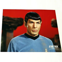 *LEONARD NIMOY* Mr. Spock / Red Background STAR TREK TOS COLOR 8x10 PHOTOGRAPH