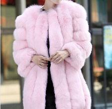 NEW Womens Faux Fox Fur Winter Coat Jacket Warm Parka Outwear Ladies Overcoat