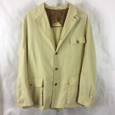 Luciano Barbera Mens Lightweight Field Jacket Made in Italy Tan Size 50/ 40 U.S.