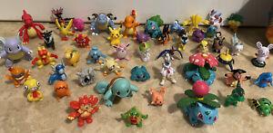 Pokemon Mini Action Figures Lot of 51 + Pikachu Tin