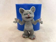 """Tricky cat"" silicone mold for soap and candles making mould molds"