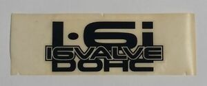FORD LASER 1.6i 16 VALVE DOHC DOUBLE OVER HEAD CAM SIDE REAR DECAL STICKER