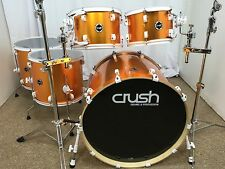 Crush Chameleon Complete 5 Piece Shell Pack Drum Kit/Metallic Orange/Rare/New