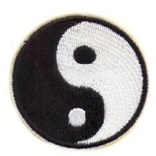 "YIN YANG IRON ON PATCH 2"" Tai Chi Martial Arts Embroidered Applique NEW Balance"