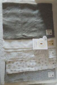 Burt's Bees Baby 5 Pack Super Soft 100% Organic Cotton Burp Cloths - NWT