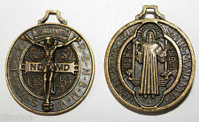 33x28mm bronze 3D Jesus Christ Saint St Benedict Cross Medal Charm Christian