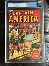 CAPTAIN AMERICA COMICS #62 CGC VF- 7.5; CM-OW; Syd Shores Bucky bondage cvr!