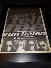 Van Halen Don't Tell Me Rare Original Radio Promo Poster Ad Framed!