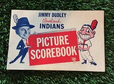 1957 Jimmy Dudley Cleveland Indians Picture Scorebook Roger Maris Rookie Year
