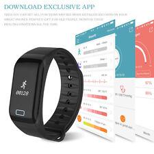 IP67 Waterproof Blood Pressure/Heart Rate Monitor Smart Watch Fitness Tracker UK