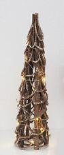LED de ratán árbol de navidad 50 cm - 20 LED de madera mesa decoración tannenbaum iluminado