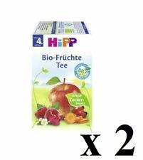 2 x Hipp Fruit Thé Sain Boissons Pour Bébés 20 sacs