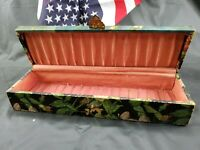 """Vintage Sewing Box Or Jewelry Box 11"""" Long"""
