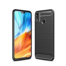 Hülle für Honor 9X Lite Handy Cover Silikon Case Bumper Schutzhülle Carbonfarben