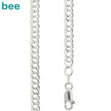 925 Sterling Silver Double Curb Link Necklace Chain 45cm 1401845