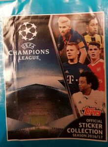 UEFA CHAMPIONS LEAGUE 2016/2017 X5O LOOSE STICKERS