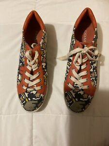 Coach Multicolor Unisex Shoes Tennis Sneakers Size 10 B Canvas Leather/ Fabric