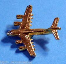 "Gold Airplane Pin Back or Tie Tack Metal 1"" x 1"""