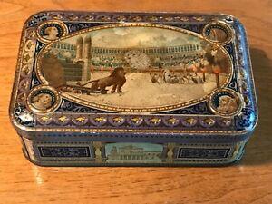 Scatola in latta litografata pubblicitaria Biscotti Wamar-Torino 1920-Colosseo