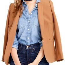 J Crew Blazer Caramel Parke Jacket Tan Size 12T 12 Tall Wool Blend Womens Lined