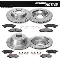 Front+Rear Drill Slot Brake Rotors And Metallic Pads For Chevy Trailblazer Envoy