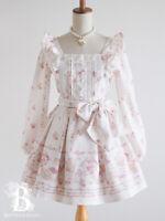 🌹LIZ LISA🌹Floral Picnic One Piece Dress S/S Off White Romantic Japan G056
