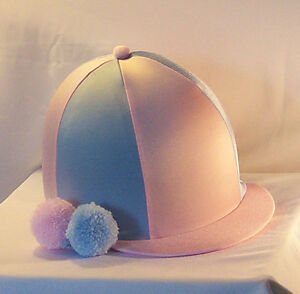 RIDING HAT COVER - BABY PINK & BABY BLUE