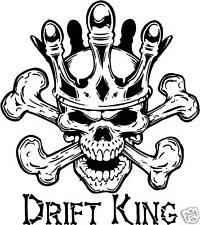DRIFT KING STICKER DRIFTING JDM TRACK DAY RACING CAR