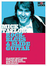 MICK TAYLOR ROCK BLUES & SLIDE GUITAR HOT LICKS DVD NEW