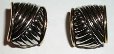 Clip-on SILVER / GOLD-TONE EARRINGS -- Jewelry -- Costume