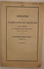 Association de fabricants artisans pour adoption d.orphelins des deux sexes.1847