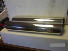 """3"""" x 16"""" stainless exhaust tips pair angle rolled end custom"""