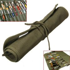 Roll Up Travel Canvas Oil Paint Brush Storage Bag For Watercolor Draw Pen Case