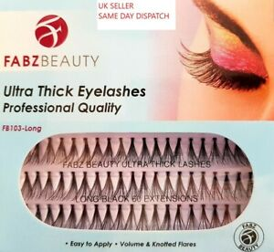 Individual Eyelashes Knotted Flare Cluster Ultra Thick Lashes Fabz Beauty