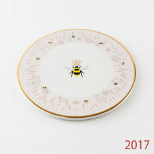"""HY0183 Busy Bees 10"""" Cheese Plate Kitchen Party Cake Dish Honey Bumble BeeKeeper"""